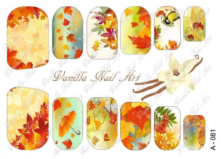 Vanilla Nail Art Slider No. A-081
