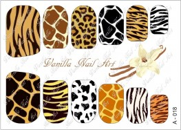 Vanilla Nail Art Slider No. A-018