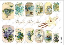 Vanilla Nail Art Slider No. A-032