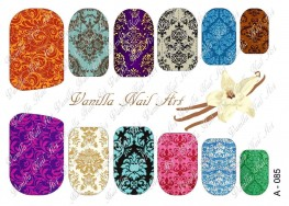 Vanilla Nail Art Slider No. A-085