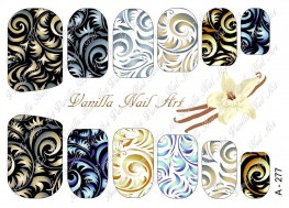 Vanilla Nail Art Slider No. A-277