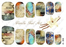 Vanilla Nail Art Slider No. A-304