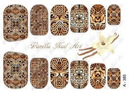 Vanilla Nail Art Slider No. A-385
