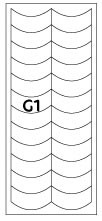 French Nail Forms, Top Quality, G1, pack of 10