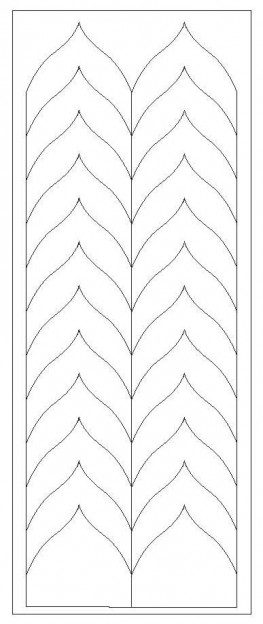 French Nail Forms, Top Quality, Romantic Chevron, pack of 5