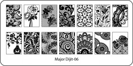 Stamping Schablone Major Dijit 06