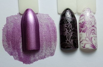 Stamping Color Chrome Lila