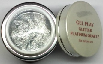 UV/LED Gel Play Glitter Platinum Quartz 4g