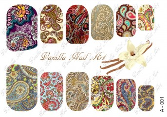 Vanilla Nail Art Slider No. A-001