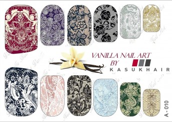 Vanilla Nail Art Slider No. A-010