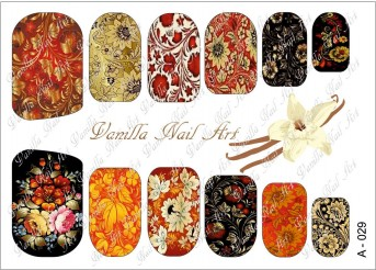 Vanilla Nail Art Slider No. A-029