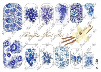 Vanilla Nail Art Slider No. A-040