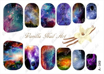 Vanilla Nail Art Slider No. A-049