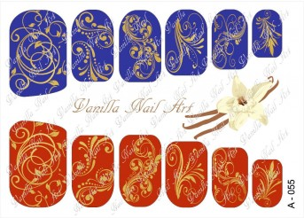 Vanilla Nail Art Slider No. A-055