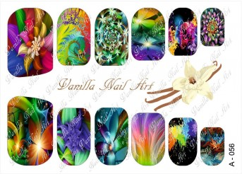 Vanilla Nail Art Slider No. A-056