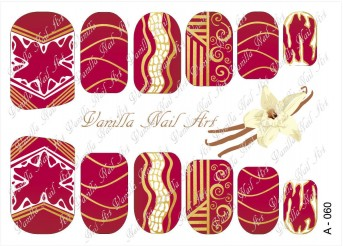 Vanilla Nail Art Slider No. A-060