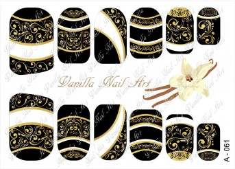 Vanilla Nail Art Slider No. A-061