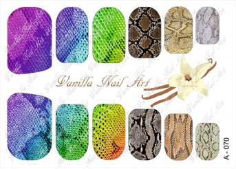 Vanilla Nail Art Slider No. A-070