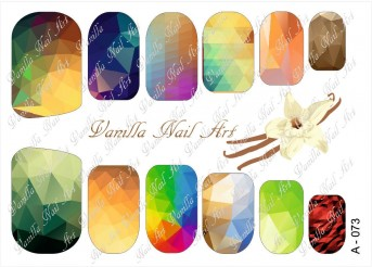 Vanilla Nail Art Slider No. A-073