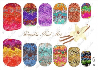 Vanilla Nail Art Slider No. A-074