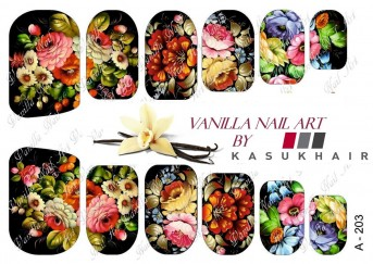 Vanilla Nail Art Slider No. A-203