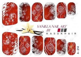 Vanilla Nail Art Slider No. A-214