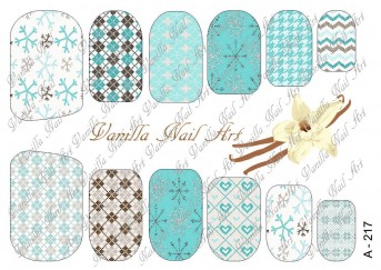 Vanilla Nail Art Slider No. A-217