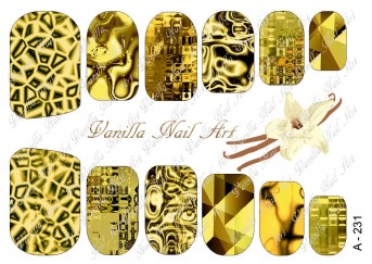 Vanilla Nail Art Slider No. A-231
