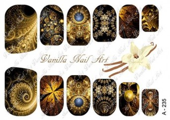 Vanilla Nail Art Slider No. A-235