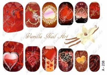 Vanilla Nail Art Slider No. A-238
