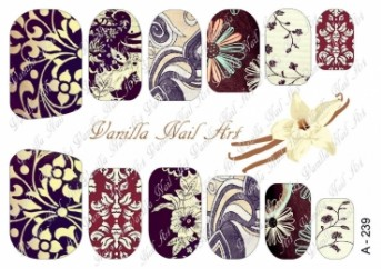 Vanilla Nail Art Slider No. A-239