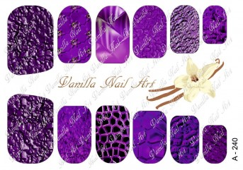 Vanilla Nail Art Slider No. A-240