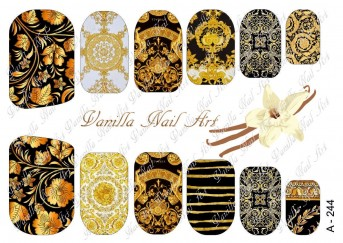 Vanilla Nail Art Slider No. A-244