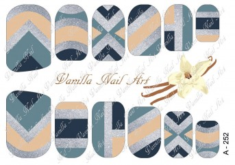 Vanilla Nail Art Slider No. A-252