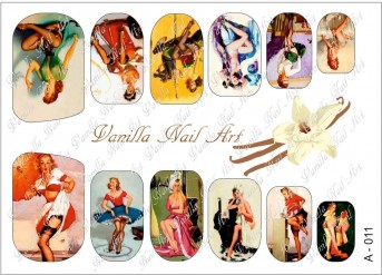 Vanilla Nail Art Slider No. A-011