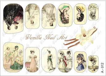 Vanilla Nail Art Slider No. A-012