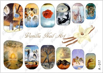 Vanilla Nail Art Slider No. A-017
