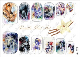 Vanilla Nail Art Slider No. A-021