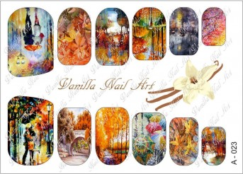 Vanilla Nail Art Slider No. A-023