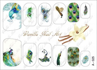 Vanilla Nail Art Slider No. A-025
