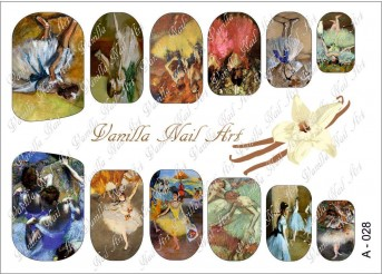 Vanilla Nail Art Slider No. A-028