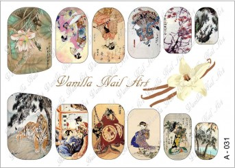 Vanilla Nail Art Slider No. A-031