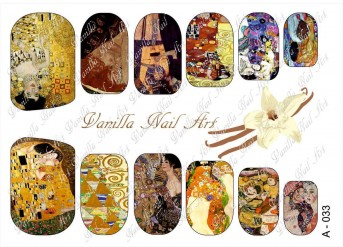 Vanilla Nail Art Slider No. A-033