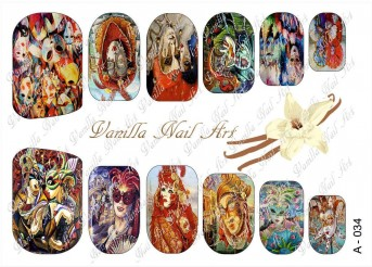 Vanilla Nail Art Slider No. A-034
