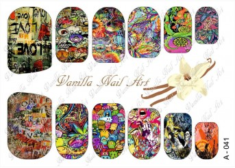 Vanilla Nail Art Slider No. A-041
