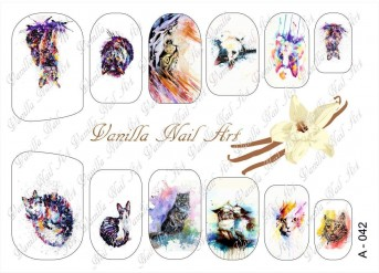 Vanilla Nail Art Slider No. A-042