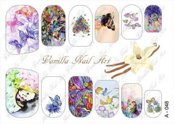 Vanilla Nail Art Slider No. A-048