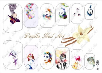 Vanilla Nail Art Slider No. A-050