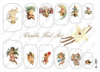Vanilla Nail Art Slider No. A-051