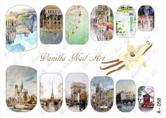 Vanilla Nail Art Slider No. A-058